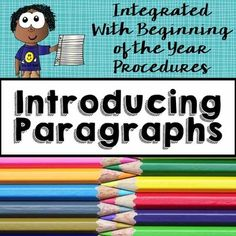 Teach students HOW to write a paragraph with these simple steps!Use back to school picture books to give students step-by-step lessons in how to write a structured paragraph!