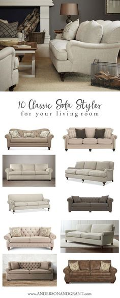 Overwhelmed When Trying To Find The Perfect Sofa For Your Living Room?  Check Out This Post With 10 Classic Sofas That Will Never Go Out Of Style.