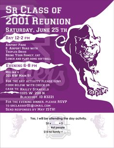 SR CLASS OF 2001 REUNION SNAKE RIVER...  Created for Class of 2001 Reunion Snake River.