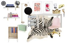 Glam Office by Havenly