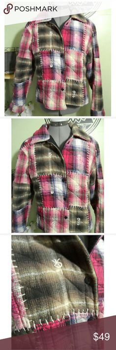 New Womens Mesh Checked Jacket Tartan Size S and M