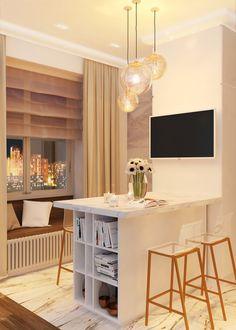 Студия 29,17 кв.м. - SMART&MINI. Квартира до 30 кв. метров | PINWIN - конкурсы для архитекторов, дизайнеров, декораторов