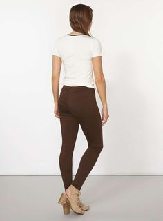 Womens Bitter Chocolate 'Eden' Ultra-Soft Jeggings- Brown