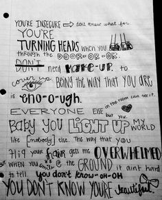 in love with one direction at the moment! I have the one direction infection! What Makes You Beautiful, You're Beautiful, Beautiful Lyrics, 1d Songs, Love Songs, Lyric Quotes, Me Quotes, Beautiful One Direction, One Direction Lyrics