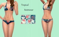 Tropical SwimwearToday I have some new recolors of a BG bikini in six tropical patterns.. Enjoy! Download