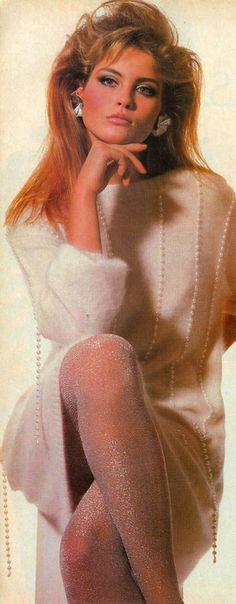 Kim Alexis in Vogue magazine, 1981