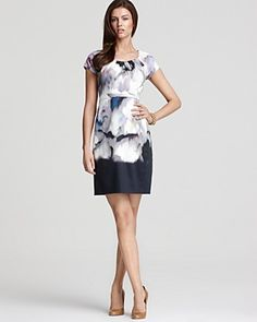 Gorgeous Elie Tahari dress with a watercolor inspired print