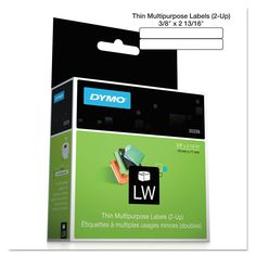 Labelwriter Video Top Labels, 3/8 X 2 13/16, White, 700 Labels/roll