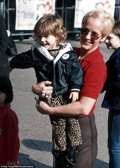 Paula Yates with daughter Tiger Lily at the premiere of the Rugrats film in London, in 1999, when she was about four years old