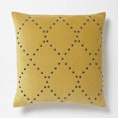 de25dd25b91c Studded Velvet Ogee Pillow Cover - Horseradish