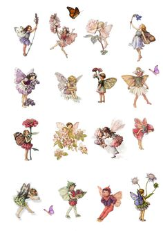 Stand Up Enchanted Forest Flower fairy Scene Edible Premium Wafer Paper Cake Topper This great edible topper scene is printed onto Premium Wafer