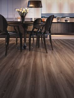 Piso Laminado Durafloor Linha Nature | Duratex My House, Conference Room, New Homes, Dining Table, House Design, Architecture, Inspiration, Furniture, Home Decor