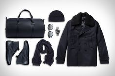 Miansai Leather Duffle ($695). Ami Wool Beanie ($53). Ahlem Sunglasses ($495). Alsta Nautoscaph II Watch ($895). North Sea Clothing Deck Shoe ($105). De Bonne Facture Scarf ($250). Officine Generale Peacoat ($810)....