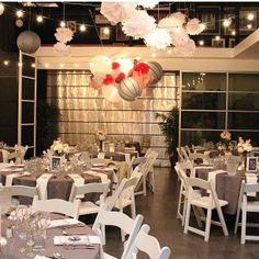 Grey wedding reception maybe grey cloths for the tables then have Tiffany Blue favor boxes and centerpieces with white napkins