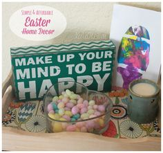 Win 48 awesome paper placemats and get adorable Easter Decor tips on a dime!