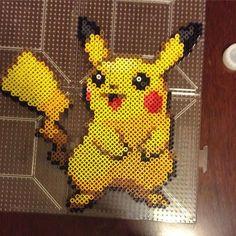 Pikachu perler beads by perler_purrs