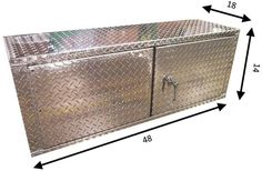 4 Foot Diamond Plate Aluminum Deluxe Overhead Cabinet! Made in the USA!