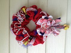 Special Olympics personalized burlap wreath
