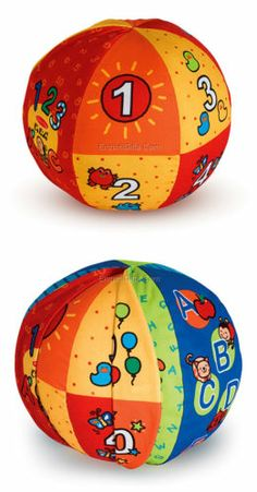Melissa Doug 2 in 1 Talking Ball Number Alphabet Toddler Learning Toy