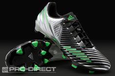 View and buy the adidas Predator LZ TRX FG SL Boots - Silver/Green/Black adidas Predator Instinct at Pro:Direct SOCCER. Adidas Soccer Boots, Adidas Cleats, Adidas Football, Football Shoes, Soccer Shoes, Trx, Adidas Predator Lz, Best Soccer Cleats, Soccer Outfits