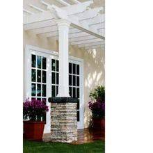 I love the clean look of this pergola. It would provide lots of nice shade during the summer, and I love that it is white. It has a modern feel to it that you don't usually get with patio covers.