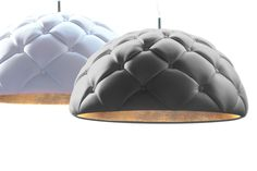 Clamp - leather pendant lamp on Industrial Design Served