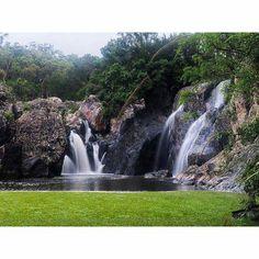 Beautiful picture of Little Millstream Falls near Ravenshoe.  Tks to IG @pie-bra #athertontablelands