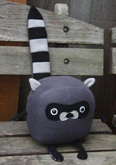 Idea: Stuffed felt raccoon! Why can't fat look this good on me?