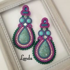 Soutache Jewelry, Ear Rings, Stud Earrings