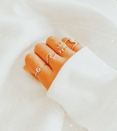 Aesthetic Rings, Boho Aesthetic, Peach Aesthetic, Aesthetic Clothes, Cute Jewelry, Jewelry Accessories, Just Peachy, Cute Rings, Ear Piercings