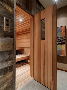 rustic home sauna/spa Sauna Steam Room, Sauna Room, The Farm, Saunas, Basement Sauna, Basement Bathroom, Basement Ideas, Sauna Benefits, Dry Sauna
