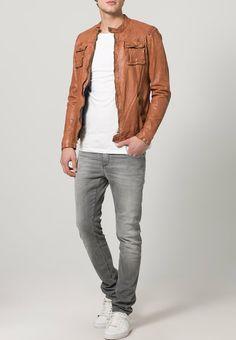 Pepe Jeans - PRIME - Giacca di pelle - marrone