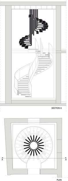 28 Trendy Ideas For Stairs Tattoo Design Spiral Staircases Staircase Architecture, Staircase Design, Architecture Plan, Architecture Drawings, Architecture Details, Rustic Stairs, Wooden Stairs, Stairs Tattoo, Spiral Staircase Plan