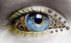 """coffeenuts: """" Eye of Time by denzleah """" Pretty Eyes, Cool Eyes, Beautiful Eyes, Steampunk Architecture, Mystic Eye, Steampunk Accessoires, Eyes Artwork, Realistic Eye, Crazy Eyes"""
