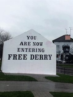 A Derry great city.: - The Tourist Czar Derry City, Letter Board, Cities, Irish, Lettering, Movie Posters, Irish Language, Film Poster, Popcorn Posters