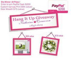 Hang It Up Giveaway - Katherines Corner