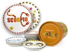 Zodiac Porcelain Coasters - Jonathan Adler