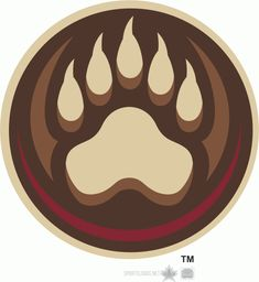 Hershey Bears Alternate Logo on Chris Creamer's Sports Logos Page - SportsLogos. A virtual museum of sports logos, uniforms and historical items. Hershey Bears, Bear Decor, Skull Painting, Free Art Prints, Bear Logo, Bear Paws, Anniversary Logo, Logo Nasa, School Logo