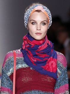How to rock a headscarf in winter