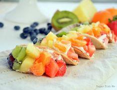 Mini Fruit Tacos #fruit #dessert #food #recipe