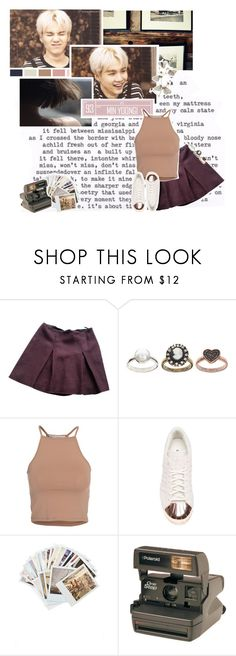"""""""I'm falling in love // 353 //"""" by cidinha-001 ❤ liked on Polyvore featuring Miu Miu, ASOS, NLY Trend, adidas, Chronicle Books, Polaroid, contest, 2016 and minyoongi"""