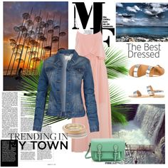 A fashion look from April 2013 featuring maxi gowns, denim jacket and leather sole shoes. Browse and shop related looks. Maxi Gowns, Thessaloniki, Nice Dresses, Fashion Looks, Collage, Denim, Clothing, Polyvore, Jackets