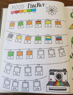 Bullet Journal Mood Tracker: Polaroid Themed