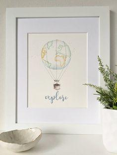 Travel Theme Nursery Explore Nursery Art by ThePrintsAndThePea