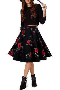 Black Butterfly Vintage Full Circle 1950's Floral Skirt -- This is an Amazon Affiliate link. Want additional info? Click on the image.