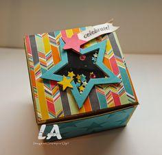 LA Stamper, Stampin' Up!: Confetti Celebration Shaker Box.  Visit my blog for more pictures!