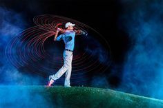 Photo Golf Lightpainting by Markus Berger on Golf Humor, Rugby, Golf Photography, Photography Ideas, Golf Art, Golf Lessons, Sports Photos, Play Golf, Light Painting
