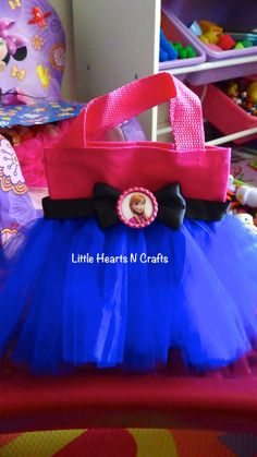 Anna Pink Blue Frozen Princess Inspired por LittleHeartsNCrafts, $8.50