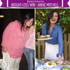 """""""The thought of bigger, future versions of me shook me awake,"""" says Andie Mitchell, who lost 135 pounds."""