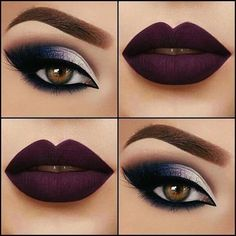 If you would like enhance your eyes and increase your appearance, having the very best eye make-up tips and hints will help. You need to make sure to put on make-up that makes you start looking even more beautiful than you are already. Cute Makeup, Gorgeous Makeup, Pretty Makeup, Purple Makeup, Maroon Makeup, Maroon Lips, Glamorous Makeup, Purple Nails, Flawless Makeup